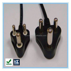 indian plug ac power cord SABS standard 2/3pin power cord and iec c13 connector