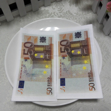 Fancy funny Fake Money design Printed Tissue Napkins