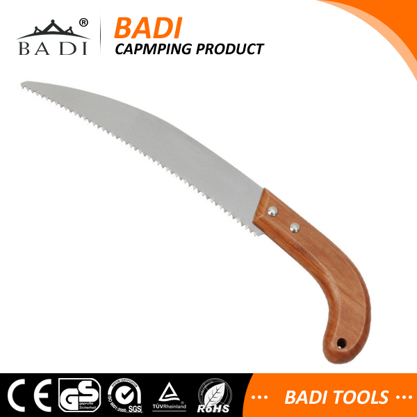 multi blade cutting saw for tree with wooden handle