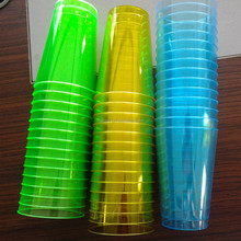 Disposable Plastic Wine Glasses/Whole sale Plastic Glasses China Factory/Neon Color Assorted Disposable Plastic Clear cups