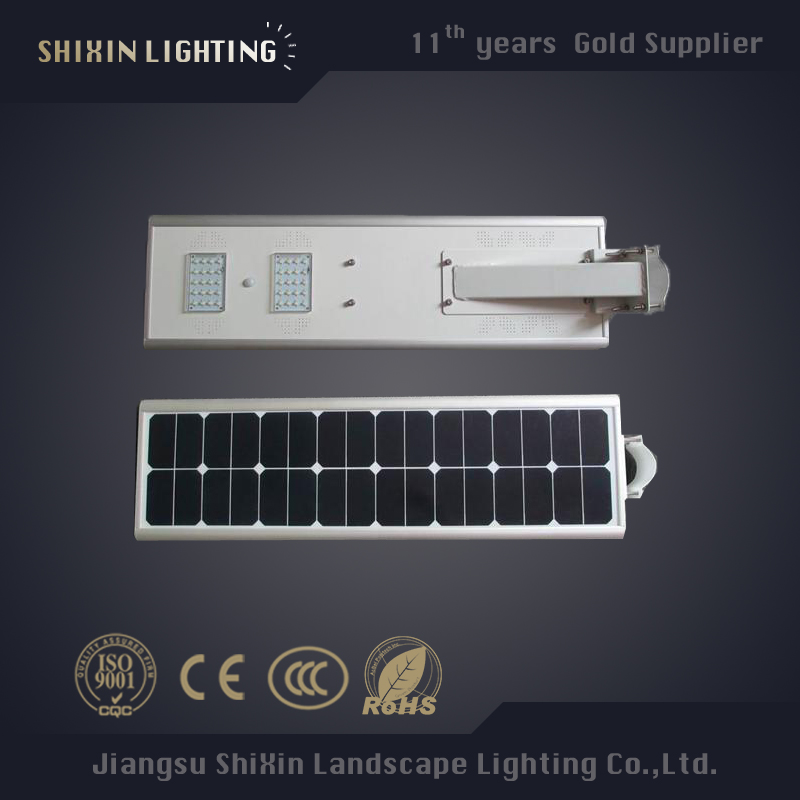 25W 50W LED Solar Panel Integrated Solar Street Light