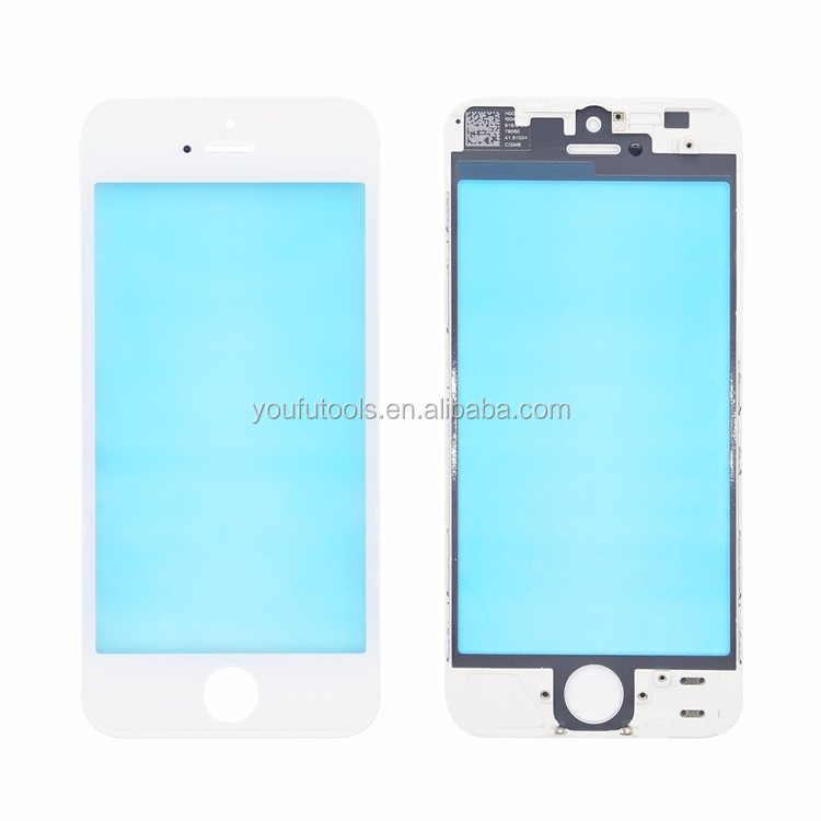 OEM phone glass + frame + OCA for iPhone 5 Screen Replacement