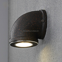 Popular fashion style vintage big water pipe industrial led wall lamp/lights china supplier