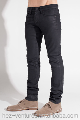 men 39 s low rise denim pants jeans coated skinny jeans for men coated 100 cotton straight leg. Black Bedroom Furniture Sets. Home Design Ideas