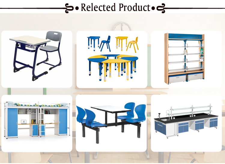 Modern school furniture best price plastic student single desk and chair set for sale