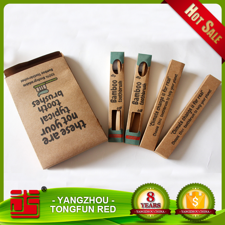 Wholesale Bamboo toothbrush wooden / bamboo toothbrush for hotel