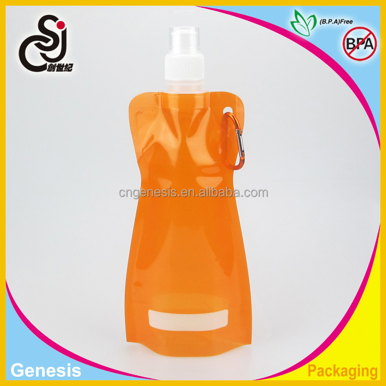 420ML Advertising Promotional Foldable Water Bag/ Popular Drinking bottle