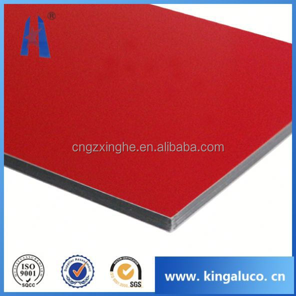 Outdoor indoor decorative panel aluminum composite sheet