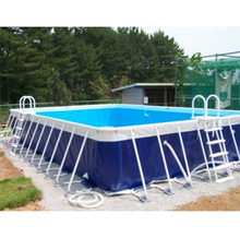 Customize Round Rectangular Above Ground Metal Frame Adult Size Inflatable Swimming Pool