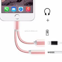 Newest 8pin Connector To Aux 3.5mm Stereo Adapter Cable 3.5mm Headphone Jack Connector For Iphone 7 7plus