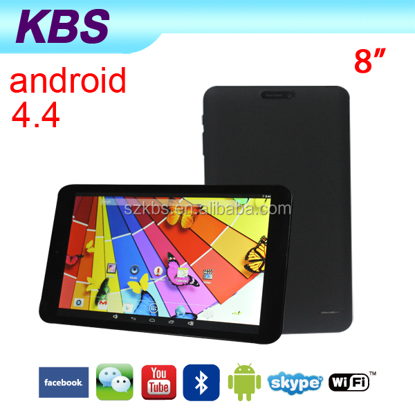 8 Inch Chinese OEM Dual Sim Android 4.4 Tablet PC Phone With Sim Card
