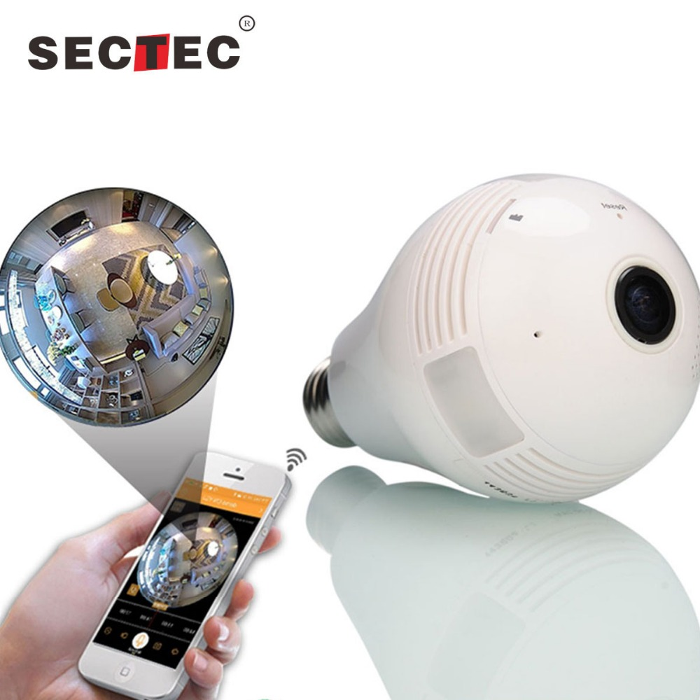 Shenzhen audio 360 degree camera night vision wifi ip fisheye light bulb security cctv surveillance camera with digital camera