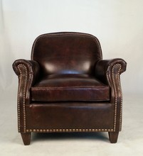 Trade Assurance Genuine Leather Antique Living Room Armchair