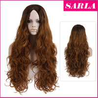 SARLA Wholesale two tone ombre curly syntetic hair wig