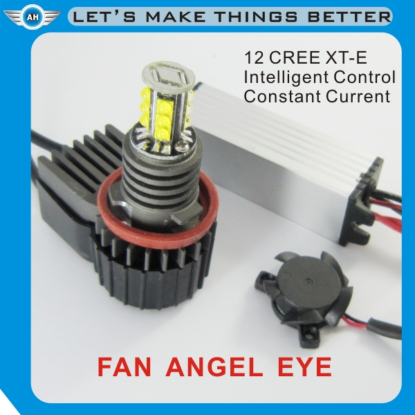 40W H8 LED Angel Eye Halo Marker Light Fan For Bmw E92 E93 3s 2007-2012