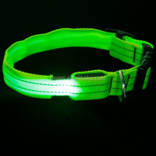 2014 trendy new innovative products high quality nylon led pet necklace