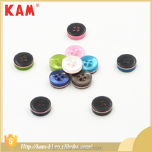 Dome top vintage garment accessories resin polyester T shirt button for clothing