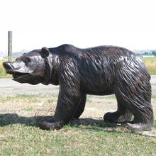 Garden decoration outdoor cast metal craft animal statue life size bronze bear sculpture