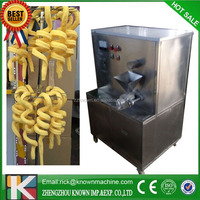 20kg/h hollow tube corn puffing snack making machine for filling ice cream /corn stick extruder