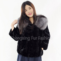 CX-G-A-81C 2016 Hot Sale Fashion Fur Coat Hand Knitted Mink Fur Woman Clothes