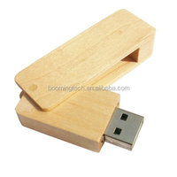 Promotion gift 500mb to 64GB wooden usb flash drive