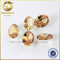 7*9mm champagne semi precious stones diamonds loose oval shape gemstones for toy