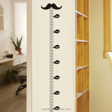 Syene New mustache wall sticker kids height growth chart Height Measure wall sticker decal baby room decoration