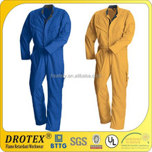 Fire resistant flame retardant cotton workwear coverall Inherently Flame Resistant and Anti-Static Coverall