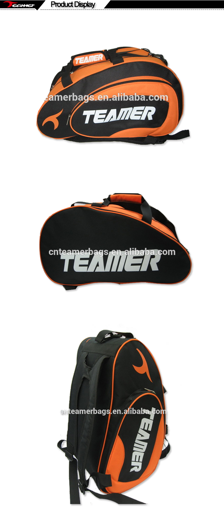 Trendy Spain padel racket bag for gym