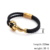 Men's Vintage Stainless Steel Gold Scorpion Handmade Double Braided Leather Bracelet