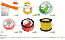 Halley Nylon Monofilament Metal Trimmer Line For Gardening Tools Of Grass Cutter Riding On Lawn Mowers