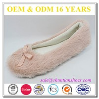 New Design Hand Made Flat Woman Slipper Alibaba Shoes In Pv Plush