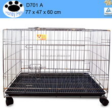 plastic & wire black new portable foldable animal dog puppy dog cages for sale
