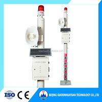 solar panel water pressure alarm level detection and warning system