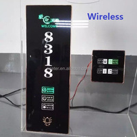 Wirelss hotel doorbell system LED Backlit Room Number Sign
