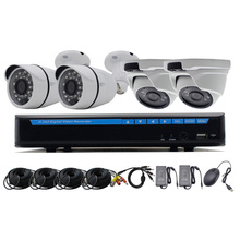 Video Security System H.264 AHD 4CH CCTV DVR Kit 4 Cameras