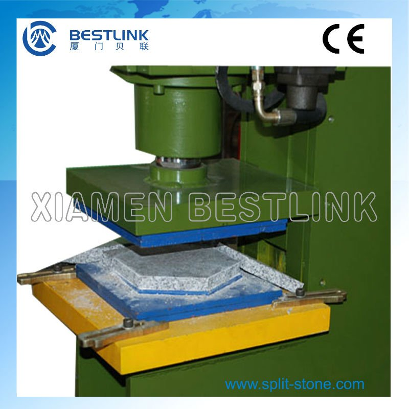 Hydraulic granite stone pressing cutting and stamping machine