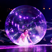 Custom Cheap large Beautiful transparent bubble inflatable ball, stage show Inflatable Dance Ball for event
