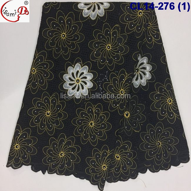 CL14-276 New design fashionable african style swiss embroidery cotton lace