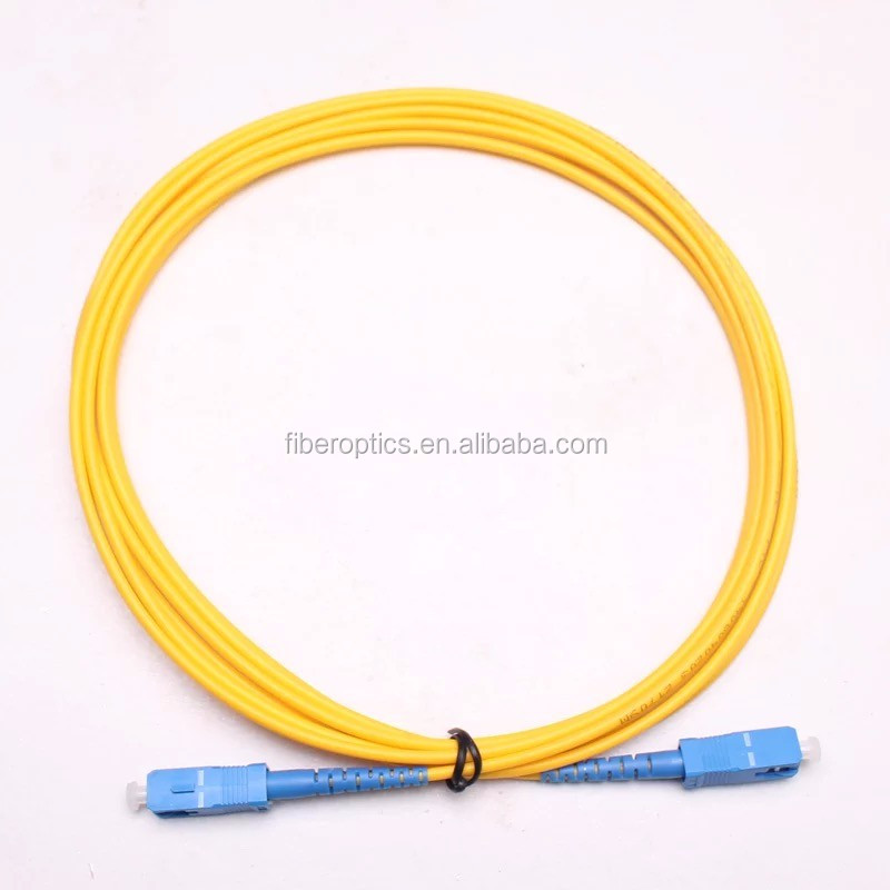 low ftth low price free sample china optical transmitter price SC SM 2.0/3.0mm Laser protection fiber optic patchcord/Jumper