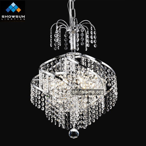 chrome French crystal chandelier light china