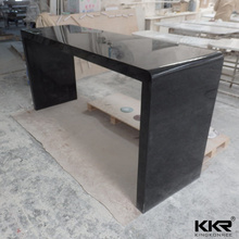 Black color I shape table solid surface bar counter