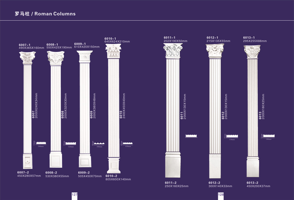 Decoration polyurethane column pillar pu interior for Polyurethane columns