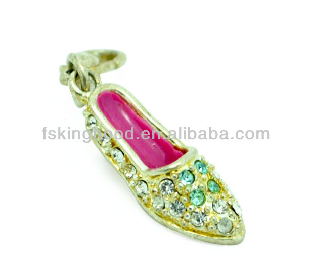 promotion Mini Lady shoe fashion key chain,key ring