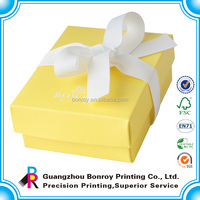 Top Quality Handmade Custom Printing Paper Box for Gift and Packaging with Ribbon Design