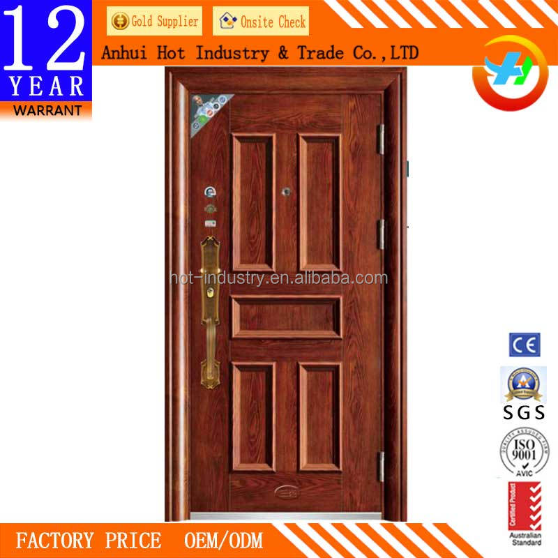 Simple Comfortable Exterior Door Convenient Metal Door Decoration Storm-proof Heat Insulation Exterior Metal Door Slabs