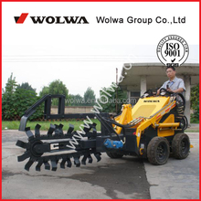 small digging trencher skid steer loader with trencher attachment GN380