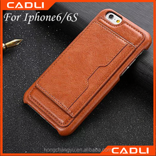 360 degree full cover skin imitated artificial leather wallet card pocket phone case for iPhone 6