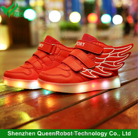 Top Level Dancer LED Shoes EU Size 25-37 LED Dance Shoes Kids Light Up Shoes With Wings