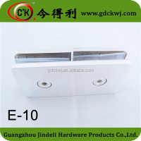 Shower room door 180 degree glass clamp,square double side glass clips E-10